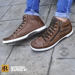 Sapatenis Zurick Masculino em Couro Chocolate