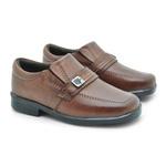 Sapato Social Fortaleza Babie Couro com Fivela - Brown