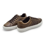 Sapatenis em Couro Casual Masculino Connect - Chocolate