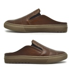 Mule Masculino Connect em Couro - Brown