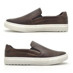 Slip On Yate Masculino Connect em Couro - Brown
