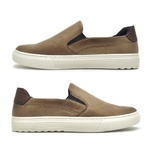 Slip On Yate Masculino Connect em Couro - Areia/Whisky