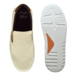 Slip On Yate Masculino Connect em Couro - Natural