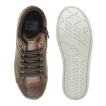 Sapatenis Infantil City Masculino em Couro - Brown/Whisky