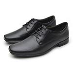 Sapato Social Fortaleza Couro - Preto com Carteira Grátis