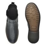 Chelsea Boots Masculina em Couro - Preto