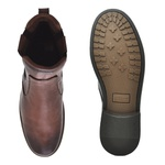 Chelsea Boots Masculina em Couro - Brown
