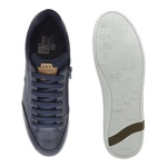 Sapatenis Casual em Couro Masculino North - Royal/Whisky