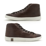 Sapatenis North em Couro Masculino - Brown/Whisky