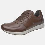 Sapatênis Jogging Em Couro Mega Boots 12031 Chocolate