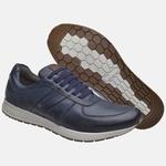 Sapatênis Jogging Em Couro Mega Boots 12031 Marinho