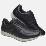 Sapatênis Jogging Em Couro Mega Boots 12031 Preto
