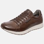 Sapatênis Jogging Em Couro Mega Boots 12032 Chocolate-Cafe