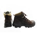 Bota Coturno Adventure em couro Mega boots 17001 Café