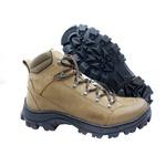 Bota Coturno Adventure em couro Mega boots 17003 Kaki