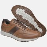 Sapatênis Jogging Em Couro Mega Boots 2201 Doce de Leite-Cafe