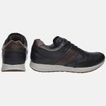 Sapatênis Jogging Em Couro Mega Boots 2201 Preto-Expresso