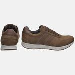 Sapatênis Jogging Em Couro Mega Boots 2202 Chumbo-Chocolate