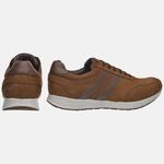 Sapatênis Jogging Em Couro Mega Boots 2202 Taupe Chocolate