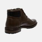 Bota Urbana em Couro Mega Boots Café-Preto 50001