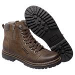 Bota Coturno em couro Mega Boots 6016 Chumbo - Café