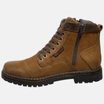 Bota Coturno em Couro Mega Boots 6017 Taupe