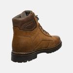 Bota Coturno em Couro Mega Boots 6019 Taupe-Expresso