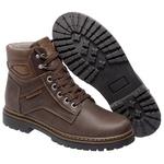 Bota Coturno em Couro Mega Boots 6019 Café-Doce De Leite