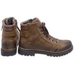 Bota Coturno em couro Mega Boots 6021 Chumbo-Café