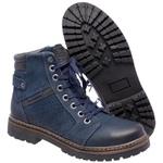 Bota Coturno em couro Mega Boots 6021 Marinho-Preto