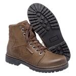 Bota Coturno em couro Mega Boots 6022 Chumbo-Café