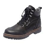 Bota Coturno em couro Mega Boots 6023 Preto