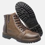 Bota Coturno em Couro Mega Boots 6026 Chumbo-Cafe
