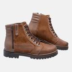 Bota Coturno em Couro Mega Boots 6026 Taupe Chocolate