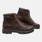 Bota Coturno em Couro Mega Boots 6028 Café-Preto