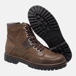 Bota Coturno em Couro Mega Boots 6029 Chumbo-Cafe