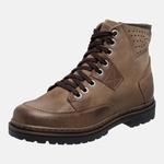 Bota Coturno em Couro Mega Boots 6029 Kaki-Chocolate