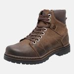 Bota Coturno em Couro Mega Boots 6030 chumbo
