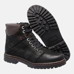 Bota Coturno em Couro Mega Boots 6030 Preto-Cafe