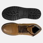 Bota Coturno em Couro Mega Boots 6031Taupe
