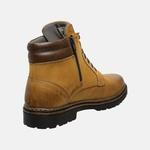 Bota Coturno em Couro Mega Boots 6032 Camel-Cafe