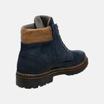 Bota Coturno em Couro Mega Boots 6032 Marinho-Dleite