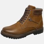 Bota Coturno em Couro Mega Boots 6032 Taupe-Cafe
