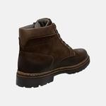 Bota Coturno em Couro Mega Boots 6033 Cafe-Cafe