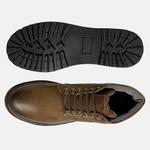 Bota Coturno em Couro Mega Boots 6033 Chumbo-Cafe