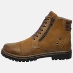 Bota Coturno em Couro Mega Boots 6034 Taupe-Cafe