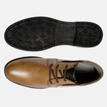 Bota Urbana em Couro Mega Boots Doce de Leite-Preto 50001