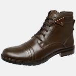 Bota Urbana em Couro Mega Boots Café-Chocolate 50002