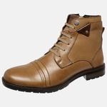 Bota Urbana em Couro Mega Boots Doce de Leite-Chocolate 50002