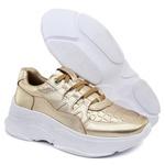 Tênis Sneaker Feminino em Couro 2002 Gold